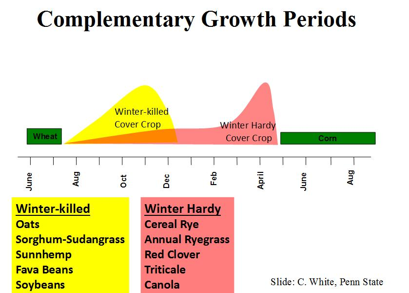 Complementary growth periods